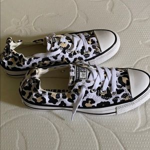 NEVER USED - Converse cheetah print size 6.